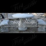 Marmeren Bank & Bank & Lijst mbt-1153 van het Graniet van de Steen van Carrara van de Lijst Witte