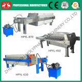 2016 type hydraulique machine de presse de filtre à huile (0086 15038222403) de la chambre