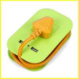 Гнездо выдвижения USB способа зеленое малое портативное многофункциональное