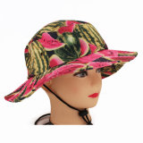 Protezione della benna del cappello di protezione di Sun stampata anguria su ordinazione di sublimazione