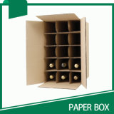 Rectángulos de envío del cartón del embalaje de la botella de cristal