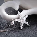 Plata esterlina de la manera de las mujeres que desea el collar del colgante de la estrella