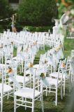 Présidences blanches en bois bon marché de mariage de Chiavari de couleur