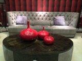 이탈리아 디자인 Nubuck 가죽 직물에 의하여 덮개를 씌우는 거실 가구 시리즈