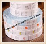 La INMERSIÓN cubrió la cinta de nylon de la escritura de la etiqueta del tafetán (NT2108)