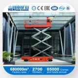 マニュアルはトラックおよび窓拭きの上昇の働きプラットホームを切る