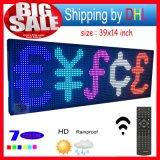 """O indicador de diodo emissor de luz ao ar livre da mensagem do desdobramento """" X14 """" programável de controle remoto do RGB 39 do sinal do diodo emissor de luz abre a placa de mensagem de 7 cores"""