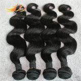 加工されていないカンボジアのバージンの人間の毛髪の拡張自然なカラー安い価格