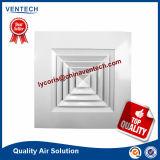 Ar Condicionado Central de alumínio Difusor de teto do difusor quadrado