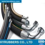 Tubo flessibile di gomma idraulico Braided standard dell'olio del filo di acciaio BACCANO/di SAE