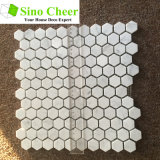 Mosaico de mármol de piedra natural hexagonal del color mezclado del material de construcción para el azulejo de suelo