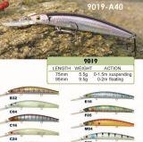 Premier vairon de qualité de pente d'ABC attrait de pêche de 75mm et de 95mm