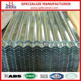 Hoja de acero acanalada galvanizada en frío del material para techos