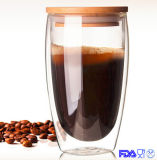 tazza della spremuta del Teacup della tazza del whisky della tazza della spremuta di vetro di Borosilicate 450ml