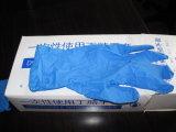 Горячее сбывание и шток для света - перчаток нитрила голубого напальчника цвета Textured устранимых