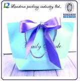 Мешок упаковки ювелирных изделий бумажной несущей искусствоа руки подарка покупкы бумаги печати Brown Kraft выдвиженческий Coated косметический с веревочкой хлопка Nylon (A211)
