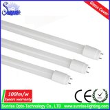 100lm/W 0.6m Glass Cover 9W T8 LED Fluorescent Tube Light