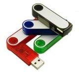 Mecanismo impulsor del flash del USB del eslabón giratorio con color colorido