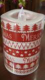 Diodo emissor de luz Light do Natal acima de Plastic Candle (LP008)