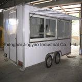 移動式コーヒーは販売のフードサービスのカートのための食糧ハンバーガーのカートを運ぶ