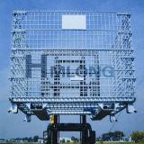 Zusammenklappbarer Hochleistungsineinander greifen-Draht-Ladeplatten-Behälter