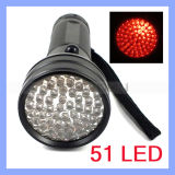 620nm Red Emitting 51 LED Flashlight Infrared Torch für Hunting Light