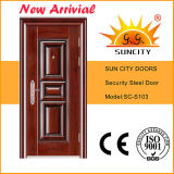 Villa Entrance Door Steel Leaf con Sidelites (SC-S023)