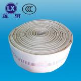 Tubo flessibile di giardino piano del PVC del tessuto