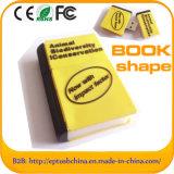 Movimentação instantânea da pena do USB da forma relativa à promoção do livro de presente (POR EXEMPLO 058)