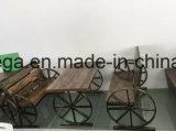 Banco rústico del asiento del restaurante de la madera del estilo de la vendimia con almacenaje del cajón