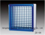 Blaues Wasser Rippe Muster-Glasblock für Hauptkunst