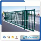 Diseño de la puerta de la venta directa de la fábrica y del metal de la exportación/diseño del hierro labrado/puerta de desplazamiento/puerta eléctrica
