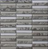 Tuile de mosaïque en pierre en verre de bandes pour la décoration de mur
