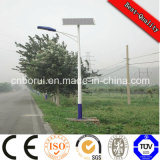 luz de rua solar do diodo emissor de luz da eficiência IP66 clara ao ar livre solar de 60W 8m