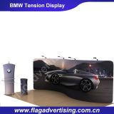 Banco di mostra curvo di pubblicità impressionante di tensionamento del tessuto per il nuovo lancio dell'automobile