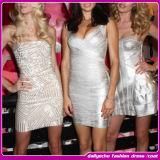 Nouvelle robe de bandage de célébrité de modèle de mode de l'arrivée 2014. Robe sexy de club de femmes
