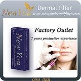 Injeção segura/ácido cutâneo duradouro de /Hyaluronic do enchimento para a seringa de Finelines 1ml da face