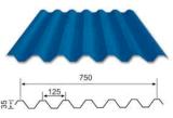 Гальванизированный стальной тип покрашенная плитка листа 750 толя крыши для строительного материала