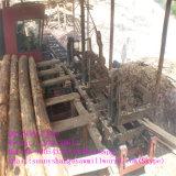 回状を切る一等級の材木はキャリッジによって見た