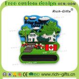 Acero d'argento canadese dei magneti del frigorifero del fumetto dei regali di promozione del ricordo (RC-CA)