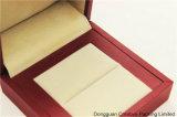 Кольца ювелирных изделий бумаги мягкого касания PU коробка имитационного упаковывая