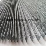 Tela de inseto plissado de poliéster Tela de fio de tecido / tela de inseto de mosquito Janela Plisse