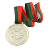 Подгонянное медаль плакировкой разницы с тесемками