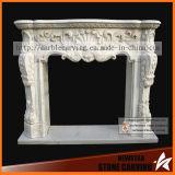 Della fabbrica metallo di scultura di pietra del camino di bordi del camino del salone direttamente