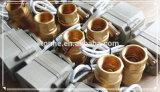 Manera 2 válvula eléctrica de cobre amarillo motorizada del agua de la vávula de bola de 1-1/4 '' con el manual (T32-B2-B)