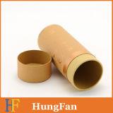 Rectángulo de papel redondo modificado para requisitos particulares del cosmético del tubo del rectángulo de regalo de la cartulina