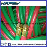 Tubi flessibili gemellare a fibra rinforzata della saldatura del PVC
