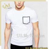 T-shirt neuf fait sur commande de coton d'homme de modèle