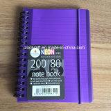 Cuaderno polivinílico espiral personal de la cubierta A6 del cuaderno espiral de los PP de la impresión de las rayas
