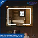 새로운 짜개진 조각 메이크업 LED 목욕탕 지능적인 미러, 조명된 비스듬한 벽 미러, 드레싱 유리 빛 미러